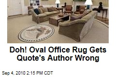 oval office rug. Oval Office Rug Gets Quote\u0027s Author Wrong