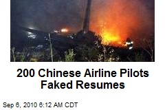 200 Chinese Airline Pilots Faked Resumes