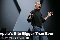 Apple's Bite Bigger Than Ever