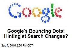 Google's Bouncing Dots: Hinting at Search Changes?
