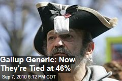 Gallup generic: Now They're Tied at 46%
